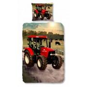 Good Morning dekbedovertrek Tractor 140 x 200/220 cm rood