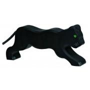 Fa játék állatok - fekete párduc