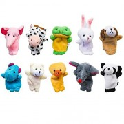Puppet - Cute Velvet Animal Farm Style Finger Puppets Toy Set for Children, Shows, Playtime, and Schools - Novelty Educational Toys for Baby Story Time Birthday Gift Children Gift - 10 Animals Set By KARP