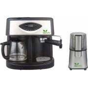 Pachet Espressor Del Caffe CoffeeShot 3 in 1 15 bari 1.25 l Functie spumare programare Negru/Inox + Rasnita Del Caffe Grind Master 220W 60g Bonus Cafea boabe Kaidi 500