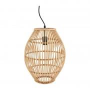 Xenos Hanglamp bamboe ovaal - ø30x39.5 cm