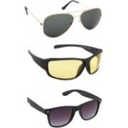 Irayz Aviator, Wrap-around, Wayfarer Sunglasses(Multicolor)