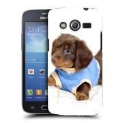 Husa Samsung Galaxy Core 4G LTE G386F Silicon Gel Tpu Model Brown Puppy