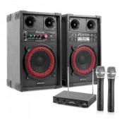 "Impianto Karaoke ""STAR-Mitte"" Casse PA 400 W  Set 2 Canali VHF Radio Microfono"