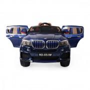 Masinuta electrica cu roti din cauciuc si scaun de piele M5X Blue