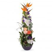 Interflora Centro vertical Tonos Naranjas - Flores a Domicilio