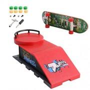 Tangc Skate Park Ramp Parts for Tech Deck Fingerboard Finger Board Ultimate Parks (D)