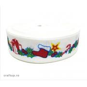 Bandă decorativă -Tafina 25mm- Ghirlande (rolă 25m)