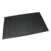Černá gumová vstupní venkovní čistící rohož s obvodovou hranou Octomat Mini - délka 90 cm, šířka 150 cm a výška 1,25 cm
