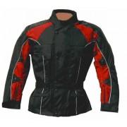 STREET-CYCLE 15009 Motorradjacke ASHTON schwarz-rot 3XL