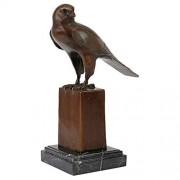 Design Toscano Noble Falcon Calidad Perdido Cera Estatua de Bronce