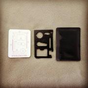 Survival Card Multi-Tool Black