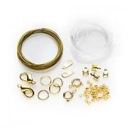 Collier- & Armband-Set, gold