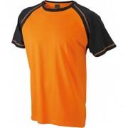 James & Nicholson Heren t-shirts oranje/zwart