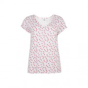WE Fashion stippen t-shirt wit/rood