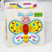 Tickles Wooden Animals 3D Puzzle Children's Educational Toys (Set Of 4 Puzzles) 15 Cm - Multicolor