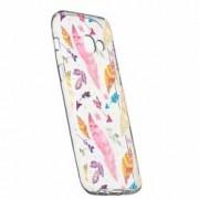 Husa Silicon Transparent Slim Happy Feathers Samsung Galaxy A3 2016
