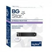 Strisce misurazione glicemia bgstar 50 pezzi per misuratore glicemia mystar extra