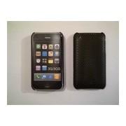 Черен силиконов твърд гръб за Apple iPhone 3G