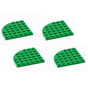 Lego Parts: Plate Round Corner 6 x 6 (PACK 4 - Green)