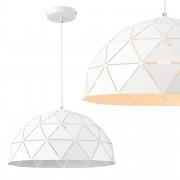 [lux.pro]® Dekoratívní designová závěsná lampa 'Bergamo' - model 5 - bílá (1 x E27)