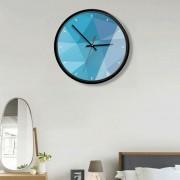 12 Inch Home Office Room Metal Decorativo Geometría Del Cuadro Imprimir MUTE No Marcando Muro Redondo Reloj De Cuarzo
