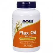 Органично ленено масло - Flax Oil Organic 1000 мг. - 100 дражета - NOW FOODS, NF1770
