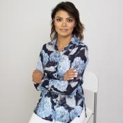 Női kék sötét kék ing Willsoor virágos / növényes 9333
