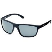 Arnette AN4234 Booger Gafas de sol rectangulares para hombre, Negro mate/Gris polarizado., 61 mm