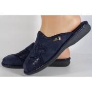 Papuci de casa bleumarin din plus dama/dame/femei (cod BECKY)