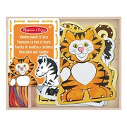 Melissa & Doug Lace Trace: Wild Animals with 5 Wooden Panels and Matching Laces
