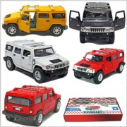 """12 Pcs In Box: 5"""" 2008 Hummer H2 Suv 1:40 Scale (Black/Red/White/Yellow)"""