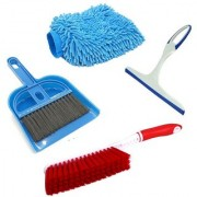 De Ultimate Combo Of Mini Dustpan Broom Set Carpet Cleaning Brush Microfiber Hand Glove With Non Scratch Glass Wiper
