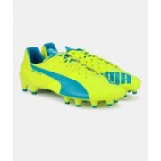 Puma evoSPEED 1.4 FG Men Football Studs For Men(Blue, Green)