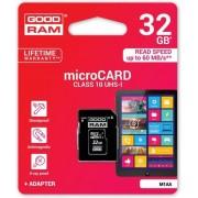 Goodram microSD-kaart 32 GB klasse 10 UHS I met adapter
