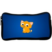 Snoogg Cute Kitty Poly Canvas Student Pen Pencil Case Coin Purse Utility Pouch Cosmetic Makeup Bag