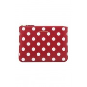Comme Des Garcons Polka Dot Pouch in Red,Geometric Print.