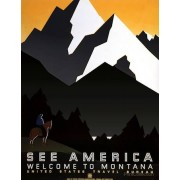 Print Collection See America Montana poster