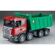 Bruder 3550 Scania R-Series Dump Tipper Truck Toy (Red/Green)