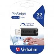 Verbatim PinStripe USB-3.0-Stick mit 32 GB, schwarz