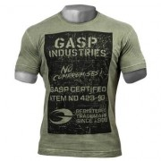 GASP Broad Street Print Tee Wash Green