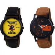 Timebre Men Whiskey Khaki Casual Analog Watch-327