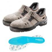 Sandale de lucru piele caprioara, S1 SRA, talpic/brant, marimea 44, NEO