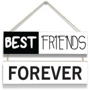 100yellow Best Friends Forever Door Hanging Board Plaque Sign For Wall Dcor (7 X 12 Inch)