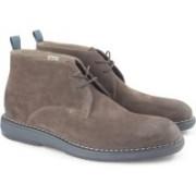 Clarks Kenley Mid Mushroom Sde Boots For Men(Brown)