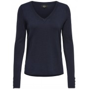 ONLY Dina Ls V-Neck Pullover NOOS Night Sky ONLY