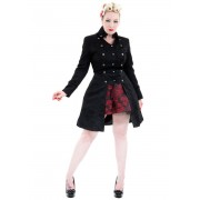 manteau pour femmes printemps / automne HEARTS AND ROSES - Noire Brocade - 9187