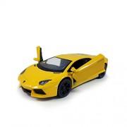 "Flying Toyszer Kinsmart 5"" Diecast Metal Lamborghini Aventador LP 700-4 Car, Pack of 1, Color May Vary"