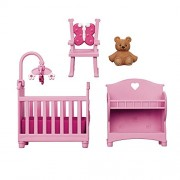 You 26Me You & Me Happy Together Dollhouse Furniture Set - Pink Nursery