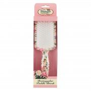 The Vintage Cosmetic Company spazzola piatta rettangolare per capelli - fantasia floreale